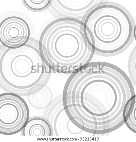 Abstract seamless background made of set of rings, vector illustration, eps10, 2 layers