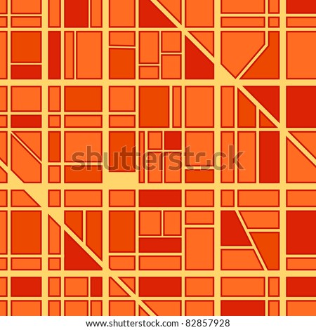 Abstract seamless background of city district