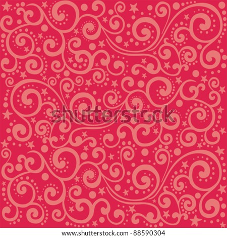 Abstract seamless background on red background. vector illustration