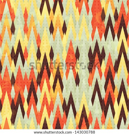 Abstract seamless background with many triangles, vector illustration