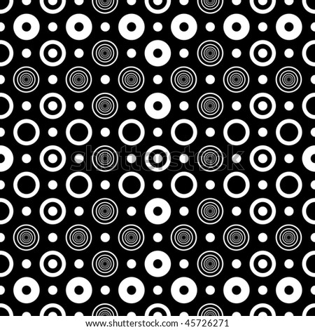 Abstract seamless black and white pattern (vector)
