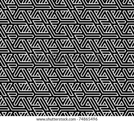 abstract seamless braided background vector illustration - stock vector