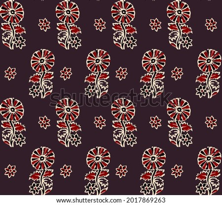 Abstract seamless  color full geometric  ajrakh print pattern background design Photo stock ©