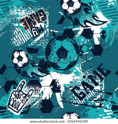 abstract seamless football