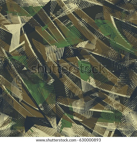 Abstract seamless geometric pattern for boys, textile, clothes, wrapping paper. Military wallpaper. Guys monochrome repeated backdrop . grunge background