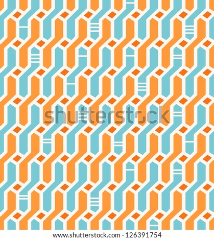 Abstract seamless geometric pattern. Network background. Wickerwork. Decorative endless texture for design textile, wrapping papers, packages