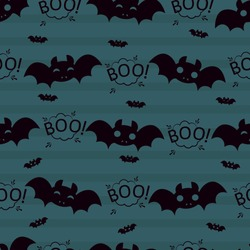 Abstract seamless halloween pattern for girls or boys. Creative vector background with bat, cloud boo, scary monster. Funny  pattern for textile and fabric. Fashion bat style. Colorful picture.