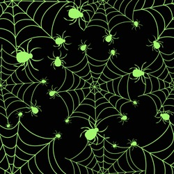 Abstract seamless halloween pattern for girls or boys. Creative vector background with net, spider. Funny pattern for textile and fabric. Fashion spider net style. Colorful picture