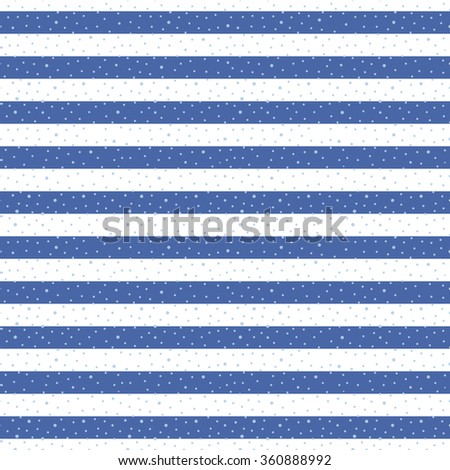 Abstract Seamless Horizontal striped pattern with polka dot. Vector illustration #360888992