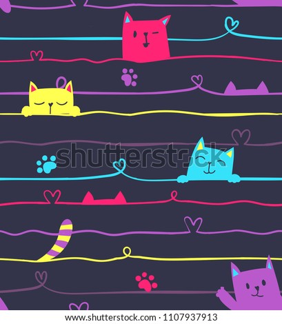 abstract seamless line pattern