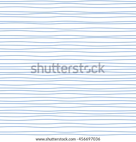 Abstract seamless lined waves pattern. Vector hand drawn inky lines background.  stock photo