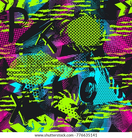 abstract seamless neon pattern
