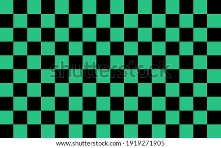 Abstract. seamless pattern chessboard black and green background. design for pillow, print, fashion, clothing, fabric, gift wrap, mask face. Vector. Stock photo ©