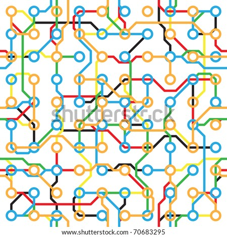 Abstract seamless pattern - electronic color components on white