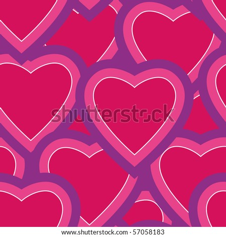 Abstract seamless pattern made from hearts for background - vector illustration. You can use it to fill your own background. - stock vector