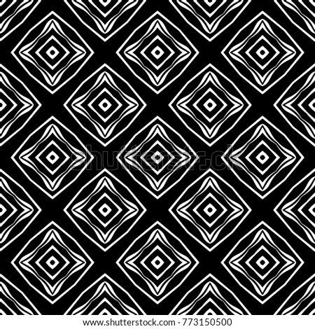 Abstract Seamless Pattern Of Black And White Color For Wallpapers Background
