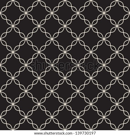 Abstract seamless pattern on black, vector background