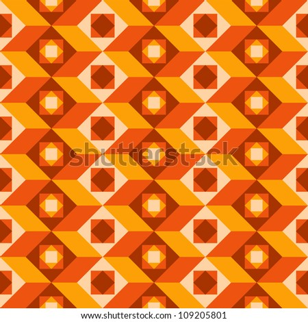 Abstract seamless pattern, retro style background.