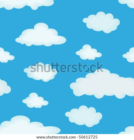 Abstract seamless pattern with clouds for background - vector illustration. You can use it to fill your own background.