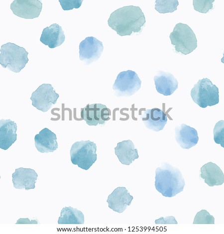 Abstract seamless pattern with colorful watercolor shapes made in vector