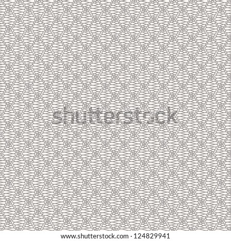 Abstract seamless pattern with curly lines. Vector illustration