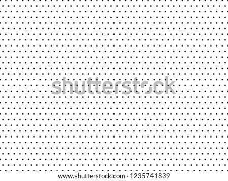 Abstract seamless pattern with dots. Modern black and white texture. Geometric background Foto d'archivio ©