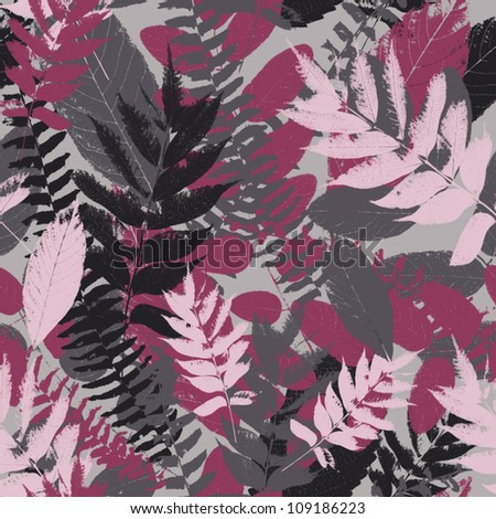 Abstract seamless pattern with leaves  Background, texture