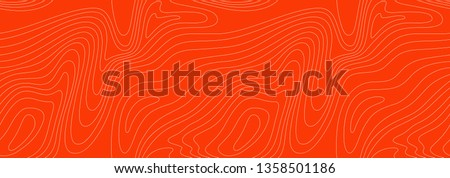Abstract Seamless Pattern with Linear Stylized Salmon Fish Fillet Texture. Vector Background for Fish Packaging, Sushi Restaurants and Menu Design