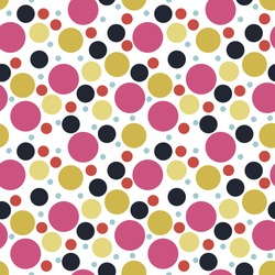 Abstract seamless pattern with randomly dots. Abstract background with circles. Vector illustration.