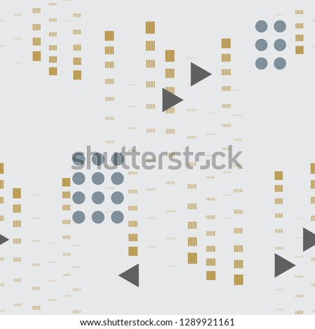 Abstract seamless pattern with simple shapes. Ikea style grey background textile texture.