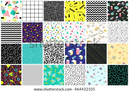 abstract seamless patterns 80's
