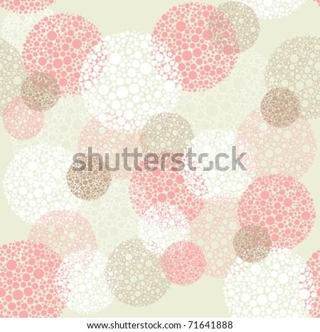 Abstract seamless polka dot circles pattern - stock vector
