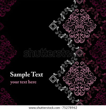 Abstract seamless stylish frame. Illustration vector