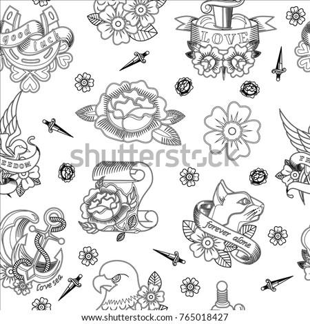 abstract seamless tattoo