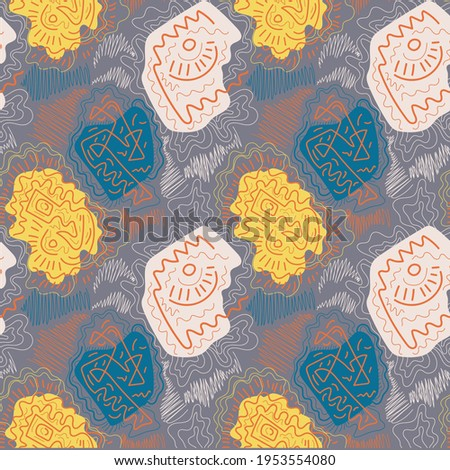 Abstract seamless unusual decorative vector pattern