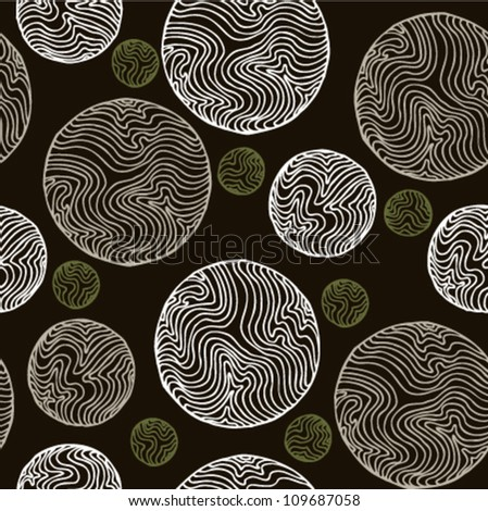 Abstract seamless vintage spiral pattern. Retro texture