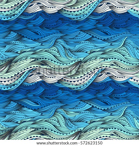 abstract seamless water pattern