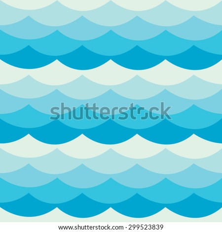 abstract seamless waves blue