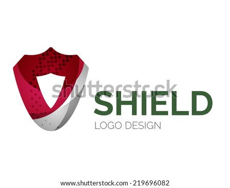 abstract secure shield logo