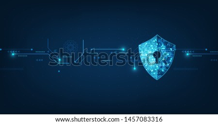Abstract security digital technology background.protection mechanism and system privacy.vector illustration.
