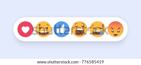 abstract set of emoticons