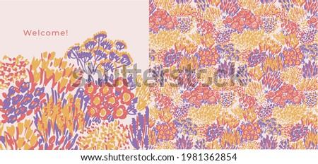 abstract shabby flower garden