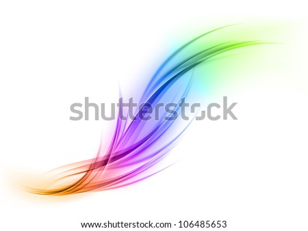 abstract shape in the rainbow