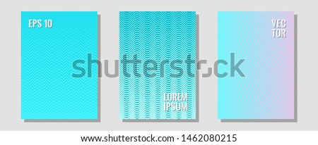 Abstract shapes of multiple lines halftone patterns. Minimalist geometry. Zigzag halftone lines wave stripes backdrops. Presentation backdrops.