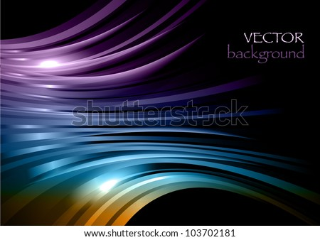 abstract shapes on the dark background