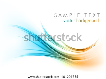 abstract shapes on the white background