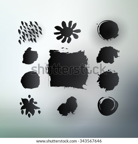 abstract shapes vector grunge