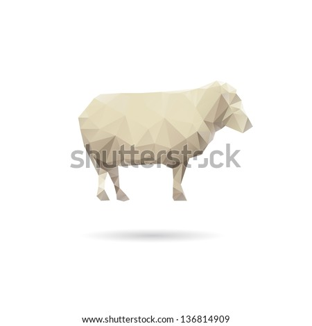 Abstract sheep isolated on a white backgrounds