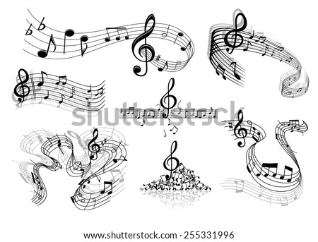 abstract sheet music design