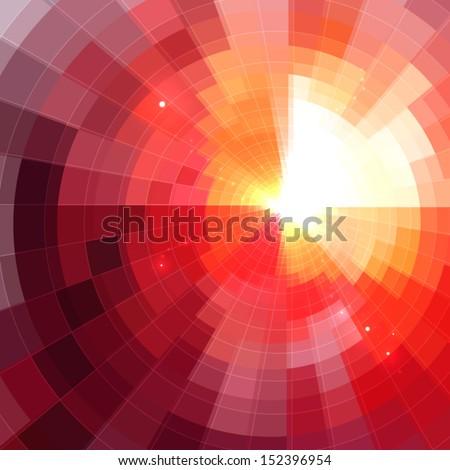 abstract shining circle tonnel